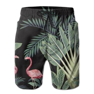 Herren Strand kurze Badeshorts Tropical Vintage wilde Vögel Palme Surfen Maillot De Bain Sport Herren Boardshorts Bademode