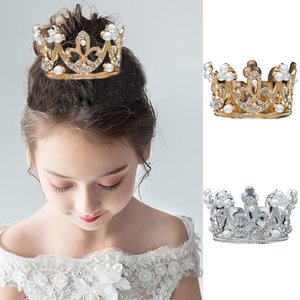 2019 Children Crown Tiara Queen King Diadem Prom Headdress Boys and Girls Tiaras and Crowns for Birthday Cake hair jewelry