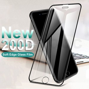200D Curved Edge Protective Tempered Glass On The For iPhone 11 pro max Glass XR 11Pro Xs Max Screen Protector Film Case