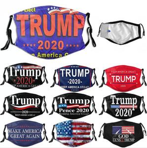 Máscara de Donald Trump face make América Great Again 2020 Eleição americano Máscara substituível Washabl filtro Máscara DDA60