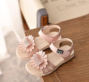 Summer Kids Shoes for Girls Baby Girls Sandals Children Leather Sun Flowers Shoes Princess Gladiator Dress Shoes Sandalias T200530