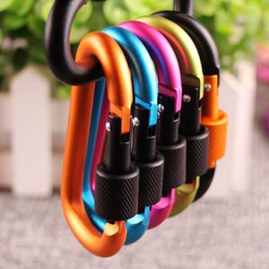 Kilit Karabina Anahtarlık Asma Kancalı Kamp Sırt Çantası Toka DBC BH3569 ile Düğme Tırmanma Kalınlaşmak 8cm Renkli Alüminyum Alaşım D Stiller