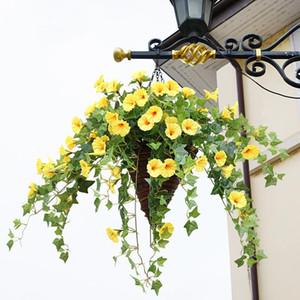 65.5cm Kunstseide Morning Glory Gefälschte Blumen-Wand-dekorative Blumen für Hause Wedding Partei-DIY Dekoration Groß 1pcs