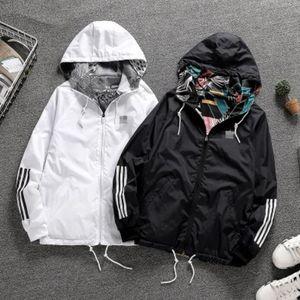 Мужчины Дизайнер Спортивная куртка Man Женские куртки Толстовки с капюшоном куртки Мужские толстовки Thin ветровка Верхняя одежда Двусторонняя молния Coats