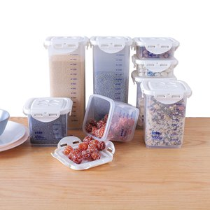 PP food storage box, dry grain tank?Clear plastic container set with kitchen lids, storage bottle jars