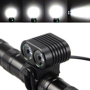 Frente de la bicicleta luz ZZA577 luz 2x 8000 lúmenes XM-L2 LED de la bici de faro de la cabeza de la bici