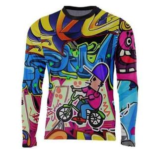 새로운 Enduro Jeresy 내리막 저지 Mtb 도로 자전거 긴 오토바이 긴 모토 크로스 레이싱 타기 사이클링 의류 긴 T 셔츠 힙합