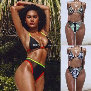 Sexy Gauze 3 Colors Bikinis Fashion Womens Swimwears Girls Swimsuits 2 Pieces Suit Swimming Wears Free Shipping