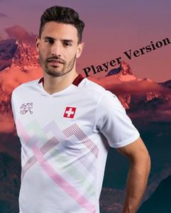 Jugador Versión 2020 2021 Suiza Inicio Ausente Jersey Jersey Versión 20 21 Seferovic Shaqiri Swiss Red Football Shirt