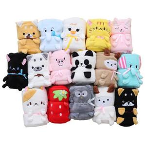 Nap cobertor bonito Crianças animal do Coral do velo pode ser dobrado cobertor para crianças Ar condicionado 100 * 80 centímetros LXL991
