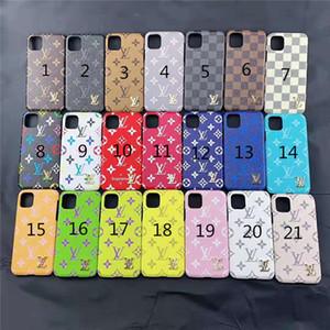 Casos de telefone de luxo PU couro desenhador para iPhone X XS MAX XR 6S 6 7 8 Plus Protect Shell Celular Tampa traseira do caso
