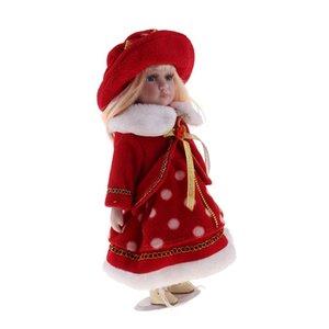 1/6 action Porcelain Doll victorienne Figures Dollhouse miniatures Accessoires enfants Enfants Cadeaux d'anniversaire rouge