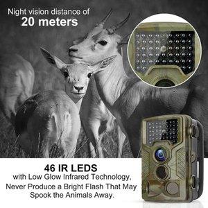 HC800A 1080 마력 사냥 카메라 12MP 적외선 나이트 비전 트레일 카메라 야외 야생 동물 정찰 장치 PIR 센서 사진 트랩