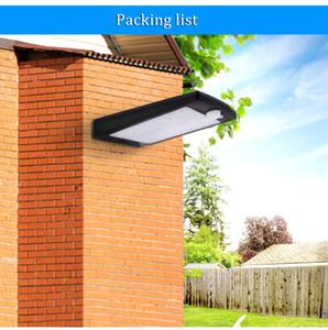 Luzes solares ao ar livre 48 LED parede Solar Sensor de movimento da luz com controle remoto sem fio da lâmpada de segurança à prova d 'água para parede