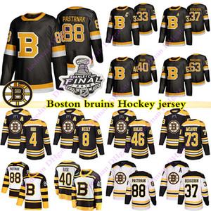 Boston Bruins 88 David Pastrňák 63 Brad Marchand 33 Zdeno Chara 37 Patrice Bergeron 4 Bobby Orr 40 Tuukka Rask maillot de hockey