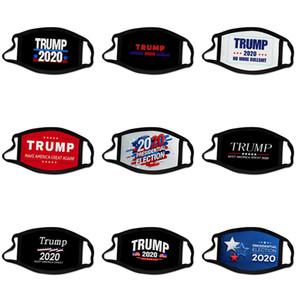 Сменный 5 Layer Filter Designer Trump Face Mask, многоразовый защитный чехол хлопок Детской маска моющейся Мода пыль ткань Fac # 528