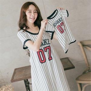 2 PCS listra confortável New Mom vestido de maternidade Cotton lazer Amamentação Vestidos pai-filho roupa Define Esportes Vestidos