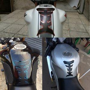 Huile de carburant en caoutchouc de moto pour le protecteur de gaz 3D Tank d'autocollant décalque Kawasaki BMW Ducat Yamaha PAD Suzuki Honda KTM DJJBV