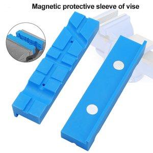 2ST Reversible Multi Groove Zubehör Magnetschutzfräserhalter Schraubstock Backen Pad PU Werkzeuge Griffe Bohrmaschine
