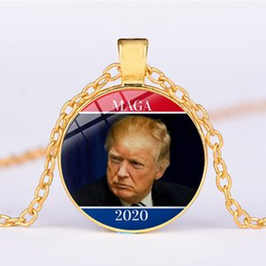 Trump Gemstone Necklace Trump Pendant 2020 American President Election Donald Trump General Election Campaign Party Favor IIA197