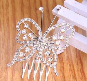 Stile coreano farfalla Corona coreano Edition sposa Copricapo accessori dei monili Matrimonio dei capelli perla di cristallo Performing capelli della parte superiore Com