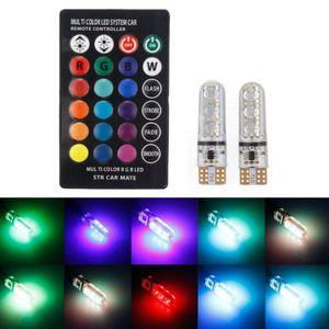 2pcs // coppia T10 5050 Remote Control Car Led Bulb 6 Smd Multicolor W5W chiaro 501 laterale delle lampadine di trasporto via DHL