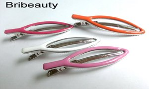 New Large Epoxy Hair Clips Silver Leaf Ente Metallemaille-Haar-Greifer Dripping Öl-Mischfarben-Haar-Pin-Set für Frauen 4 PCS ein Lot