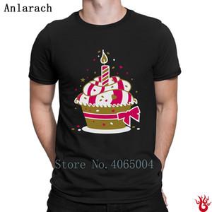 Kleine Geburtstagstorte mit einer Kerze T-Shirts Interessante ursprünglichen T-Shirt Sommer HipHop Tops New Style Short Sleeve Familie