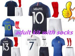 kit adulte France 1919 2019 maillot de foot maillot de foot ZIDANE 2018 mbappe GIROUD maillot de foot coupe du monde maillot de foot