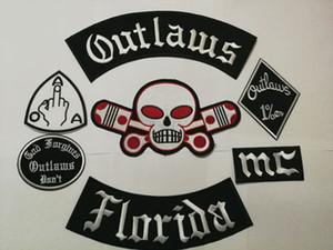 Neueste Outlaws Patches gesticktes Eisen auf Biker Patches für die Motorrad-Jacken-Weste Flecken Old Reiter Outlaws MC Patch-Abzeichen stocker