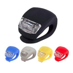 Fahrrad Radfahren Lampe Silikon-Fahrrad-Kopf-Vorderrad Hinterrad LED-Fahrrad-Licht-Lampe Fahrradzubehör Fahrrad Lampe