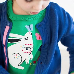 Girl Tops Tees Cotton Rabbit Print Little Kids Girls Autumn Spring Long Sleeve T Shirts Girls Clothes