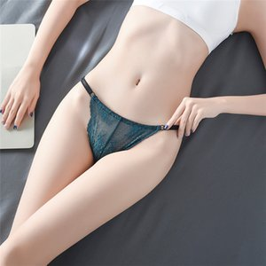 Women Seamless Briefs Sexy Lace See through Panties Low Waist Breathable Women Panties Underwear