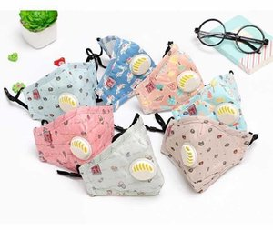 Face PM2.5 Breathable Mask Dust-Proof Smog-Proof Washable Kids Reusable Student Protective Face Mask With Valve DHB77