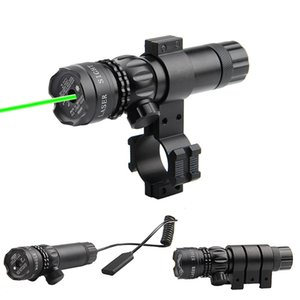 Disparos de larga distancia Rifle Scope Sight Ajustado verde puntero láser con 2 montajes láser táctico de la vista del punto láser verde