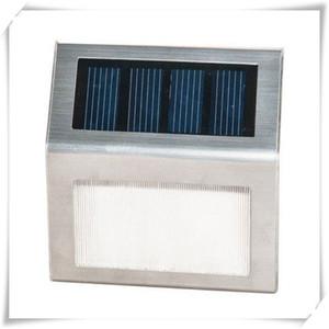 Солнечный свет Корпус из нержавеющей стали 2 LED Step Light для Step Garden Двор Палуба Монокристаллический кремний Солнечная панель