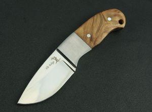 wapiti crête acier tête ombre blanche à lame fixe couteau droit couteau Outils camping en plein air couteaux self défense de chasse FACA 0555