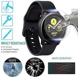 Sertleştirilmiş Cam Filmi Ekran Koruyucu için Samsung Galaxy İzle Aktif 2 Smartwatch Koruyucu Aksesuarlar 40 / 44mm