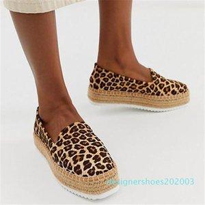 OeakFaux Suede Espadrilles Shoes Slip-on Casual Loafers Women Platform Flats Ballet Comfortable Ladies Shoe d03