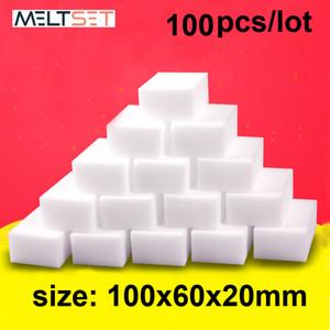 100 pc / lotto della melammina spugna magica dell'eraser della spugna da cucina della melammina di pulizia del pulitore spugna per Ufficio Bagno