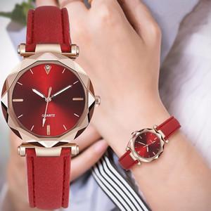 Мода кварцевых Wacth Женщина кожаного ремешок Простых женщины часы платье дама наручных часы Часы браслет Montre Femme