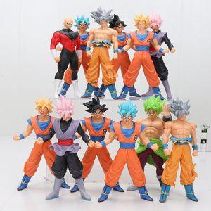 18 centímetros Dragon Ball Super Ultra Instinct Goku Super Saiyan Goku Rose Preto Jiren Broly Brolyi PVC Action Figure Toys T191129