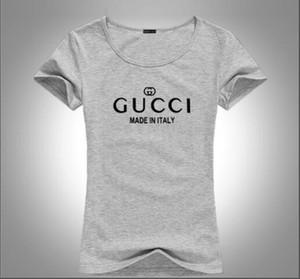 2020 para mujer Diseñadores T Shirts Mujeres Rojo Verde de lujo diseñadores Camisetas top de manga corta de Ronda letra r tes
