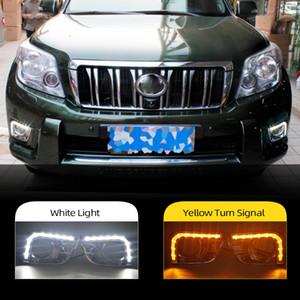 Land Cruiser için 1 Set Toyota Prado için FJ150 LC150 2010 2011 2013 2700 Otomobil için LED DRL Gündüz Işıklar Sis Far kapağı