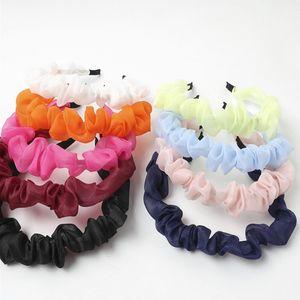 9 color Girls Lace print hair accessories pure color headband kid hair band girl headdress hoop Hair Sticks head hoop BJJ287