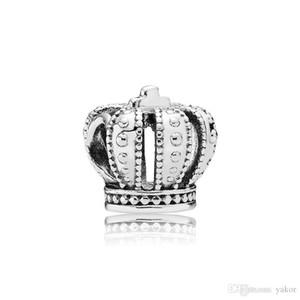 Classical 925 Sterling Silver Crown Charm Set Original Box for Pandora DIY Bracelet European Beads Charms solutions