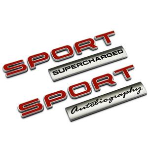 3D Пластик Черный Красный SPOR Письма Автобиография Спорт Carr Эмблема Значок Багажная Наклейка для Land Range Rover Car Assessoires