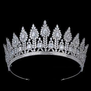 Acessórios Tiaras e Crown HADIYANA Brillante elegante temperamento Mulheres Cabelo casamento Headband Zirconia BC5640 Princesa