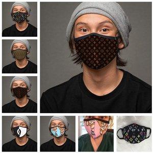 Moda mascarilla de las máscaras a prueba de polvo Sunproof Mujeres Mujeres lavable y transpirable diseñador de moda de la mascarilla de la impresión de la boca de mufla-Máscaras regalos de ciclo