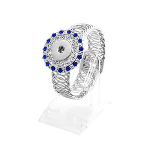 18 MM botón a presión de metal pulseras de cristal Ginger Snap charm Wrap Bangle para las mujeres de moda intercambiables DIY Noosa joyería